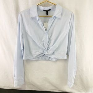 Forever 21 Light Blue Short Shirt